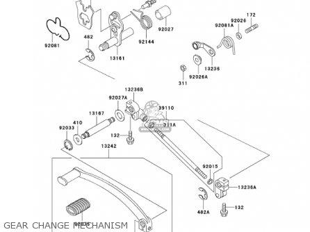 Kawasaki En500c7 Vulcan500ltd 2002 Usa California Canada Gear Change Mechanism