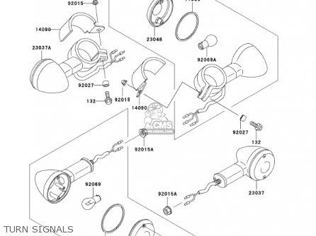 Kawasaki En500c7 Vulcan500ltd 2002 Usa California Canada Turn Signals