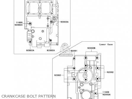 Kawasaki Ex250-f15 Ninja250r 2001 Usa California Crankcase Bolt Pattern