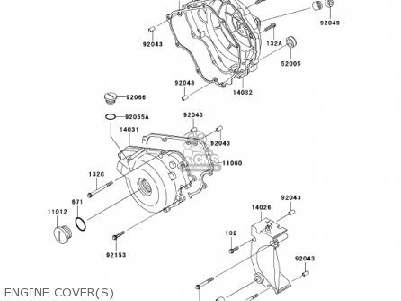 Kawasaki Ex250-f15 Ninja250r 2001 Usa California Engine Covers