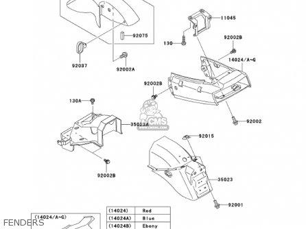 Kawasaki Ex250-f15 Ninja250r 2001 Usa California Fenders