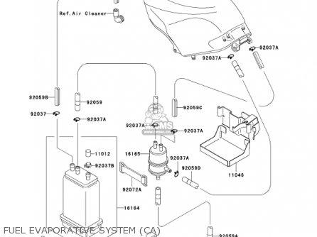 Kawasaki Ex250-f15 Ninja250r 2001 Usa California Fuel Evaporative System ca