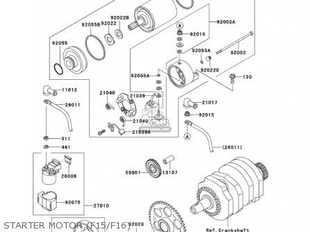 Kawasaki Ex250-f15 Ninja250r 2001 Usa California Starter Motor f15 f16