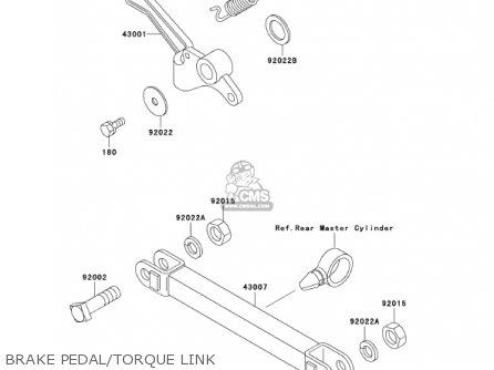 Kawasaki Ex250f15 Ninja 250r 2001 Usa California Brake Pedal torque Link
