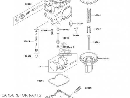 Kawasaki Ex250f15 Ninja 250r 2001 Usa California Carburetor Parts
