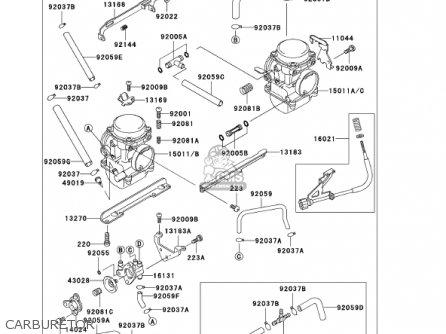 Kawasaki Ex250f15 Ninja 250r 2001 Usa California Carburetor