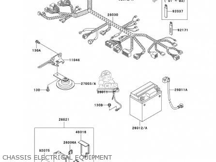 Kawasaki Ex250f15 Ninja 250r 2001 Usa California Chassis Electrical Equipment