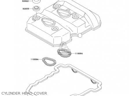 Kawasaki Ex250f15 Ninja 250r 2001 Usa California Cylinder Head Cover