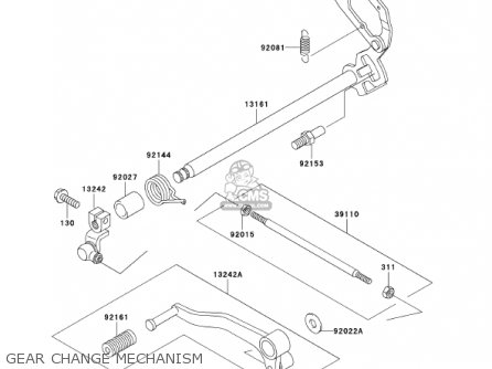 Kawasaki Ex250f15 Ninja 250r 2001 Usa California Gear Change Mechanism