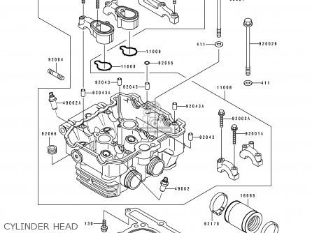 Kawasaki EX250H3 ZZR250 1992 EUROPE UK AR GR NR ST parts ... on