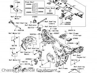 kawasaki ex300adf ninja 300 2013 usa chassis electrical equipment