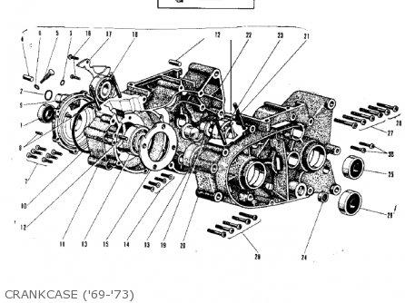 Kawasaki G3ssa 1971 Usa Canada Crankcase 69-73