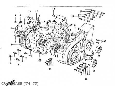 Kawasaki G3ssa 1971 Usa Canada Crankcase 74-75