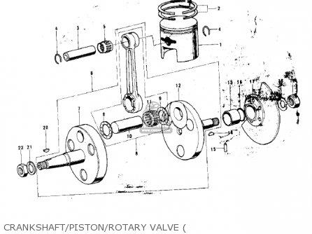 Kawasaki G3ssa 1971 Usa Canada Crankshaft piston rotary Valve