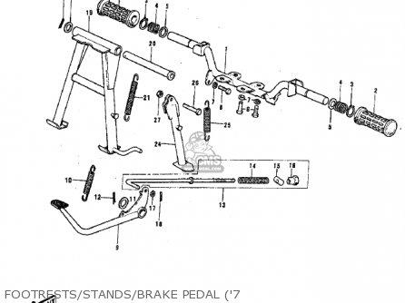 Kawasaki G3ssa 1971 Usa Canada Footrests stands brake Pedal 7