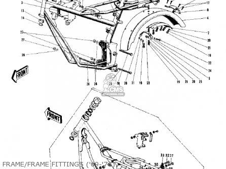 Kawasaki G3ssa 1971 Usa Canada Frame frame Fittings 69-73