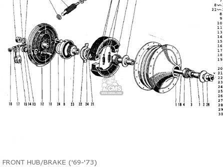 Kawasaki G3ssa 1971 Usa Canada Front Hub brake 69-73