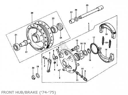 Kawasaki G3ssa 1971 Usa Canada Front Hub brake 74-75