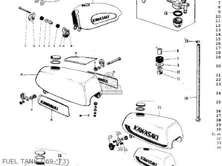 Kawasaki G3ssa 1971 Usa Canada Fuel Tank 69-73