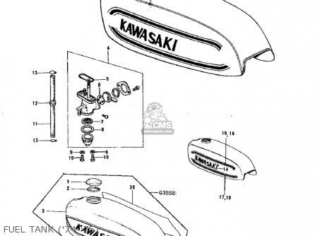 Kawasaki G3ssa 1971 Usa Canada Fuel Tank 74-75