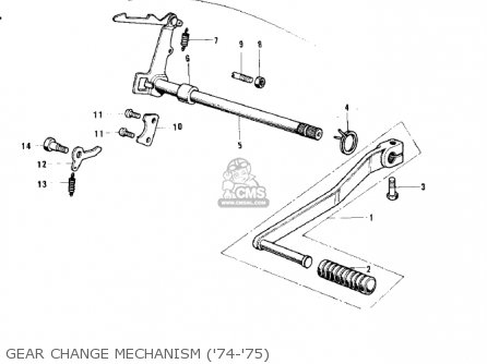 Kawasaki G3ssa 1971 Usa Canada Gear Change Mechanism 74-75