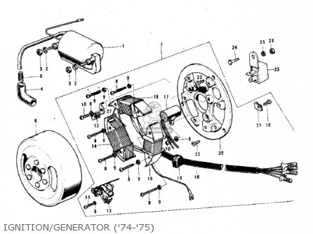 Kawasaki G3ssa 1971 Usa Canada Ignition generator 74-75