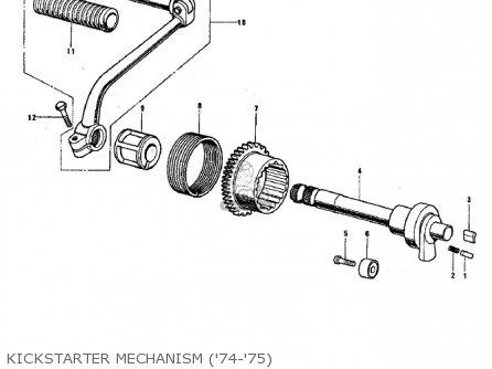 Kawasaki G3ssa 1971 Usa Canada Kickstarter Mechanism 74-75
