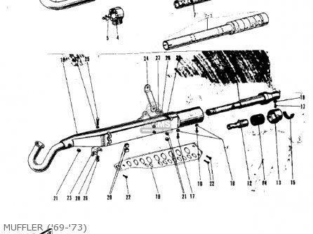 Kawasaki G3ssa 1971 Usa Canada Muffler 69-73