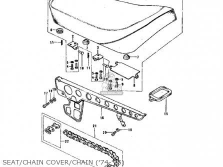 Kawasaki G3ssa 1971 Usa Canada Seat chain Cover chain 74-75