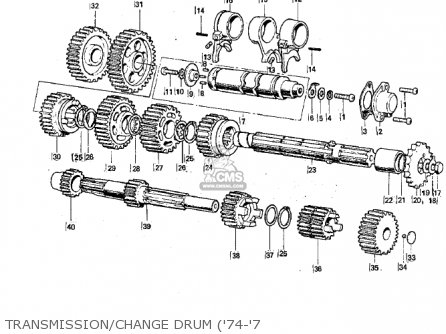 Kawasaki G3ssa 1971 Usa Canada Transmission change Drum 74-7