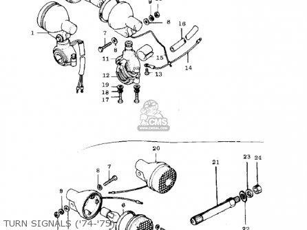 Kawasaki G3ssa 1971 Usa Canada Turn Signals 74-75