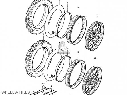 Kawasaki G3ssa 1971 Usa Canada Wheels tires 74-75
