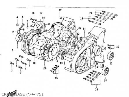 Kawasaki G3ssa 1971   Mph Kph Crankcase 74-75