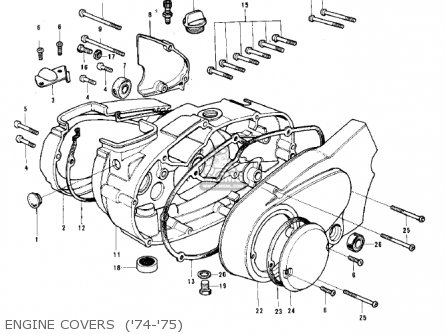 Kawasaki G3ssa 1971   Mph Kph Engine Covers  74-75