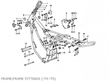Kawasaki G3ssa 1971   Mph Kph Frame frame Fittings 74-75