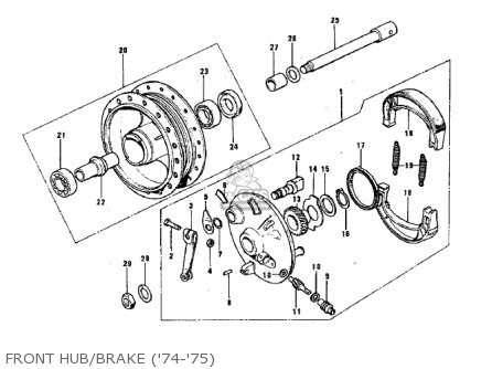 Kawasaki G3ssa 1971   Mph Kph Front Hub brake 74-75