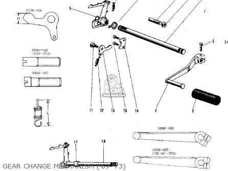 Kawasaki G3ssa 1971   Mph Kph Gear Change Mechanism 69-73