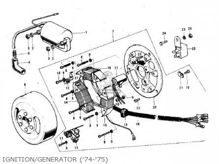 Kawasaki G3ssa 1971   Mph Kph Ignition generator 74-75