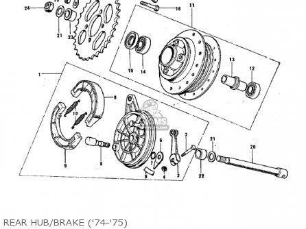 Kawasaki G3ssa 1971   Mph Kph Rear Hub brake 74-75