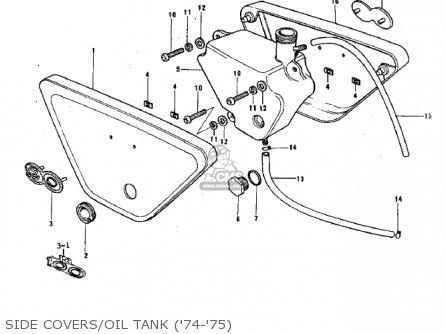 Kawasaki G3ssa 1971   Mph Kph Side Covers oil Tank 74-75
