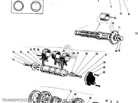 Kawasaki G3ssa 1971   Mph Kph Transmission  change Drum 69-