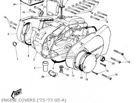 Kawasaki G5-b 1974 Canada Engine Covers 73-73 G5-a