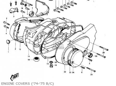 Kawasaki G5-b 1974 Canada Engine Covers 74-75 B c