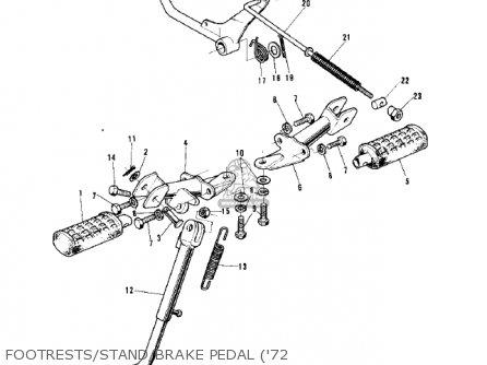 Kawasaki G5-b 1974 Canada Footrests stand brake Pedal 72