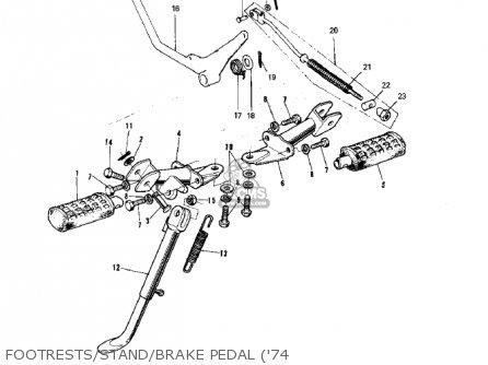 Kawasaki G5-b 1974 Canada Footrests stand brake Pedal 74