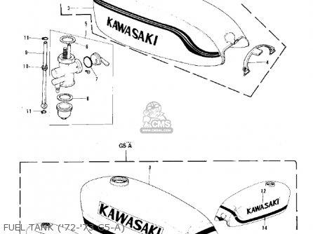 Kawasaki G5-b 1974 Canada Fuel Tank 72-73 G5-a