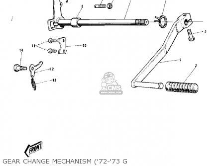 Kawasaki G5-b 1974 Canada Gear Change Mechanism 72-73 G