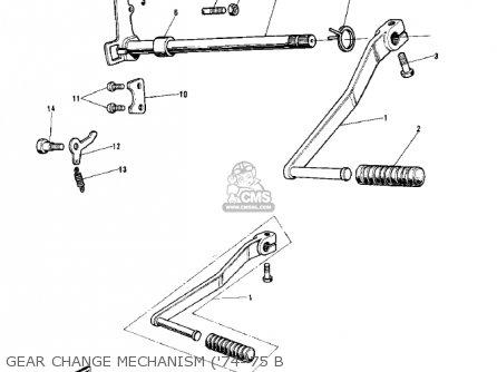 Kawasaki G5-b 1974 Canada Gear Change Mechanism 74-75 B