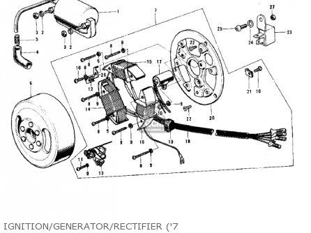 Kawasaki G5-b 1974 Canada Ignition generator rectifier 7