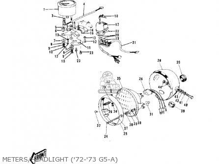 Kawasaki G5-b 1974 Canada Meters headlight 72-73 G5-a